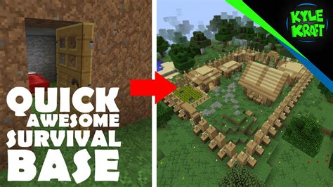 Minecraft  Quick Awesome Starting Survival Base! Doovi