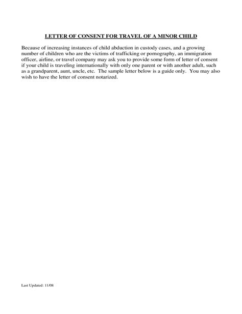 consent letter for children travelling abroad letter of consent for travel of a minor child u s