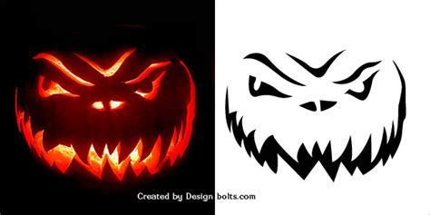horror pumpkin stencils scary stencils images reverse search
