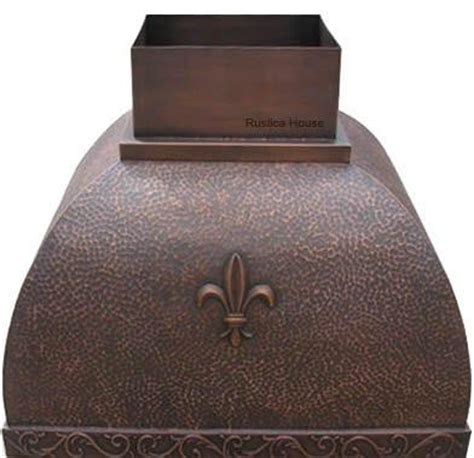 copper kitchen backsplash copper vent custom made 2577