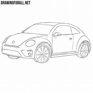 Pencil Sketch Of Lovers How To Draw A Volkswagen Beetle Drawingforall Net