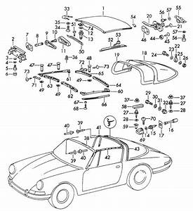 Porsche 911 Rear Roll Bar Seal Targa 90156509140