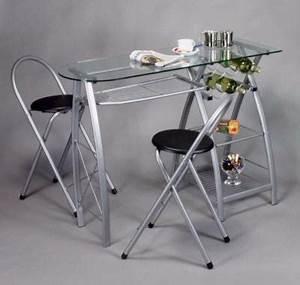 Table Bar Avec Tabouret : bar de cuisine avec 2 chaises ciel et terre ~ Teatrodelosmanantiales.com Idées de Décoration