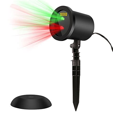 blinking and green laser lights projector