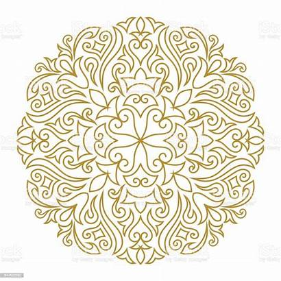 Line Ornament Template Mandala Element Circle Eastern