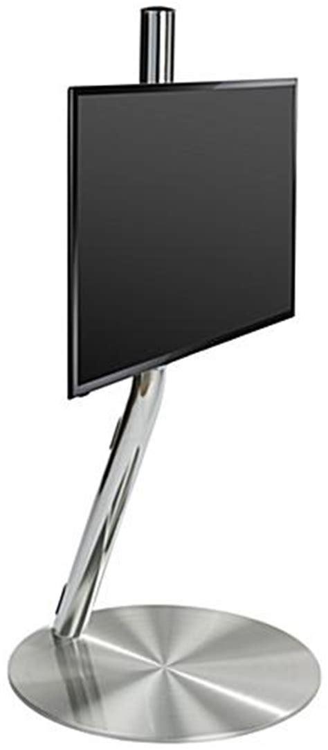 chrome floor standing tv mount included casters