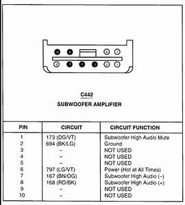 1996 Ford Explorer Factory Stereo Amplifier Wiring Diagram