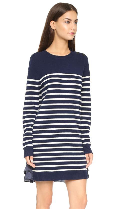 Lyst - Clu Too Marine Striped Sweater Dress - Navy in Blue