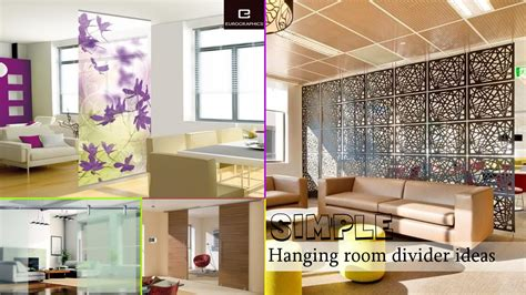 simple hanging room divider ideas youtube