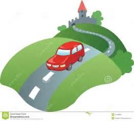 Cartoon Car On Road Clip Art