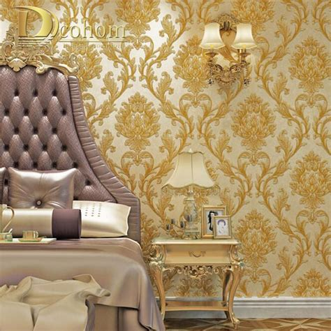 3d Wallpapers For Room Wall by Luxury Simple European 3d Striped Damask Wallpaper For