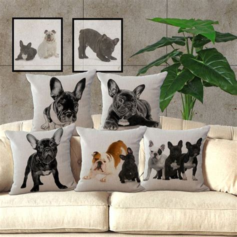 find  cushion cover information  european mianma adorable french bulldog dog printed