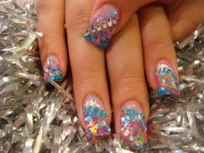New design with gel paint nails acrylic
