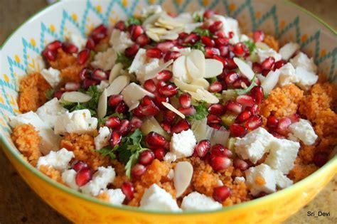 couscous salat mit feta und granatapfel rezept kochbarde