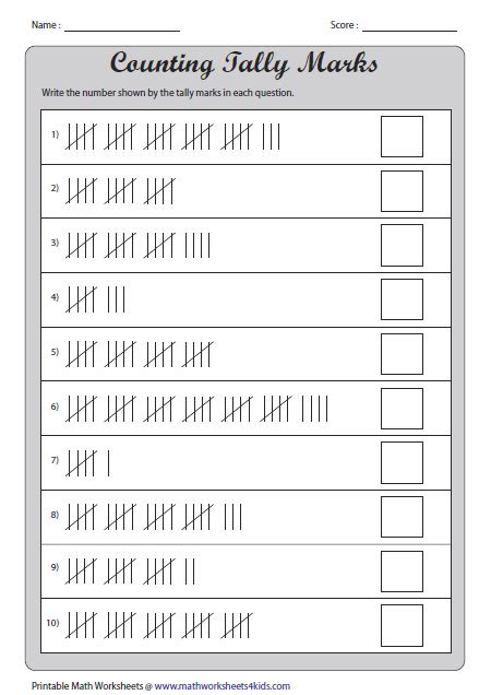 8 best images of 1st grade tally chart worksheets tally