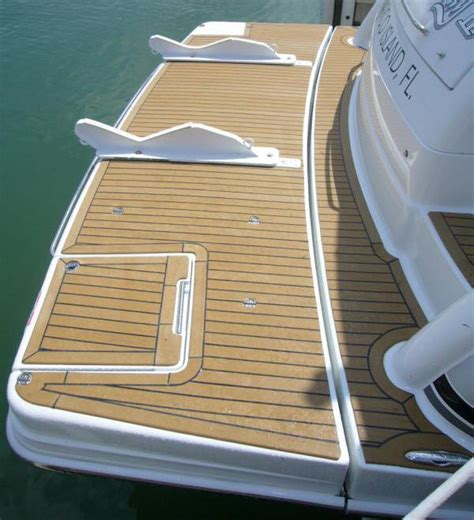vip marine services boat synthetic teak deck installation