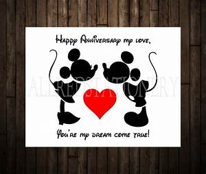 mickey and minnie wedding annivesary card disney With disney world wedding anniversary