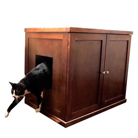 tall litter box cabinet the refined feline litter box large mahogany amazon ca