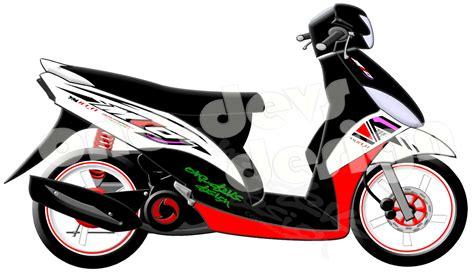 Modif Mio J by 90 Modifikasi Motor Mio J Warna Hitam Putih Sobat Modifikasi