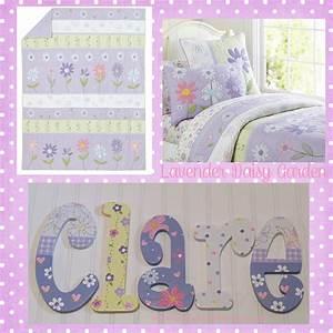 daisy garden lavender hand painted wooden nursery letters With hand painted wooden letters for nursery