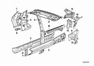 Bmw 325i Waist Rail Trim Strip  Right Rear  Body  Side