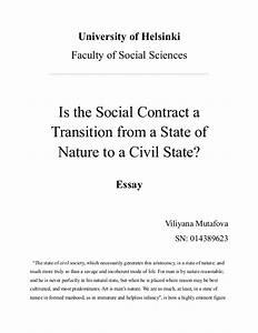 Is The Social Contract A Transition To Civil State