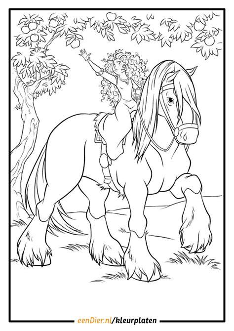Springend Paard Kleurplaat by Paarden Kleurplaat