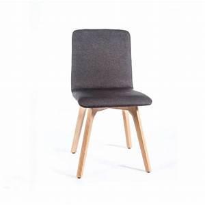 Chaise Tissu Salle A Manger : chaise de salle manger moderne en tissu et bois plaza 4 ~ Teatrodelosmanantiales.com Idées de Décoration