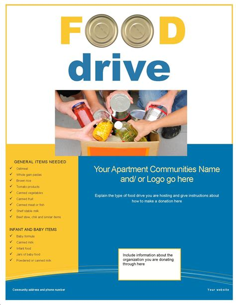drive templates can food drive flyer template portablegasgrillweber
