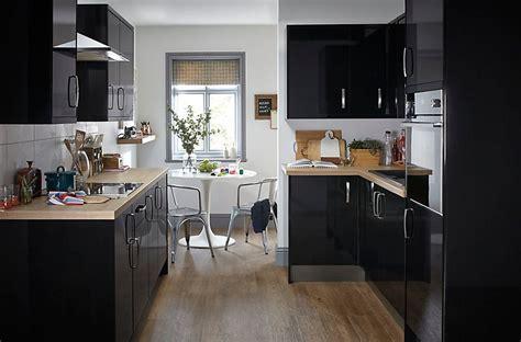 Kitchen Ideas B And Q by It Santini Gloss Black Slab Diy At B Q Home Ideas
