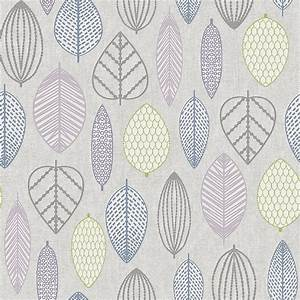 Superfresco Easy Paste the Wall Scandi Leaf Lilac ...