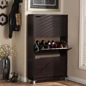 baxton studio simms wood modern shoe cabinet in brown 28862 4520 hd the home depot