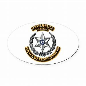 israel police hat badge oval car magnet by aaavg With kitchen colors with white cabinets with sheriff badge stickers