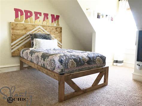diy modern platform bed  plans   video