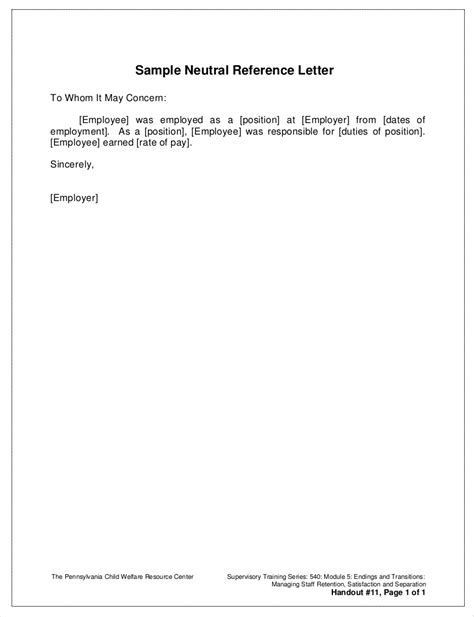 10 Employment Reference Letter Example | Proposal Sample