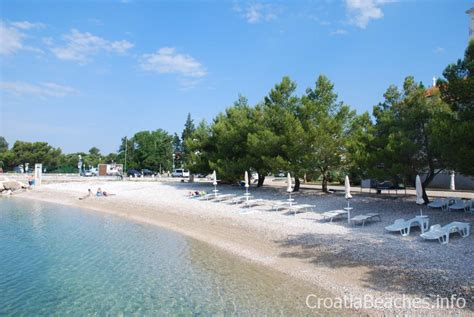 Croatia Beaches. Crikvenica, Kastel beach.