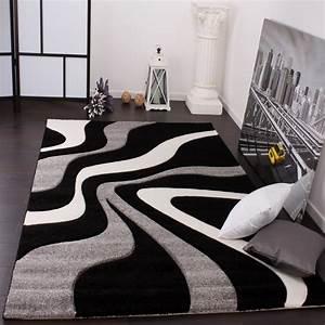 Designer teppiche und hochflor teppiche for Balkon teppich mit weiß schwarze tapete