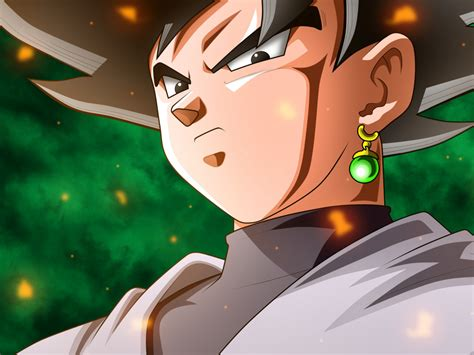 Desktop Wallpaper Black Goku Dragon Ball Anime Hd Image
