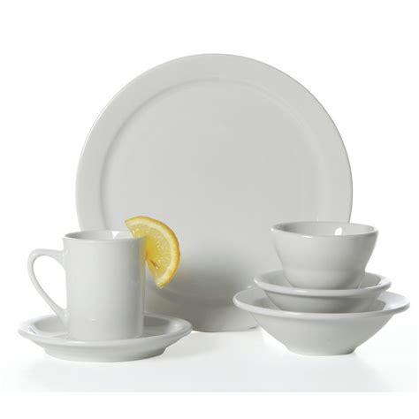 world porcelana narrow rim bright white china dinner plate