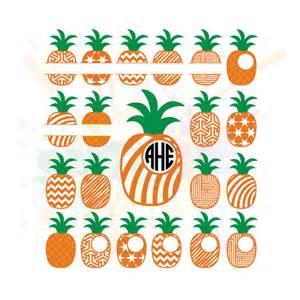 Pineapple Svg File Silhouette