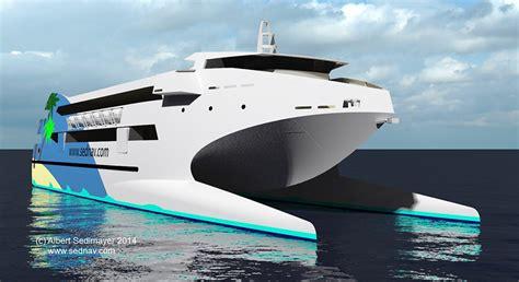 Passenger Catamaran Design by 50m Wave Piercing Passenger Catamaran Sedlmayer