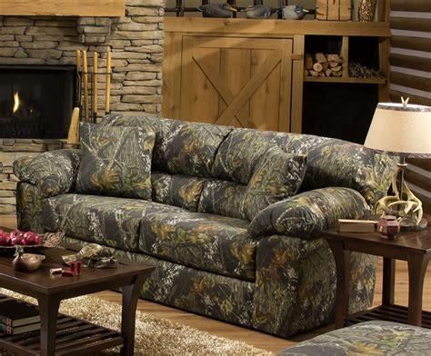 big game sofa sleeper  mossy oak camouflage fabric  jackson furniture