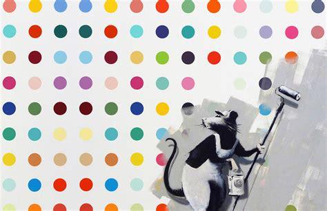 banksy rat dots wallpaper wall mural muralswallpapercouk