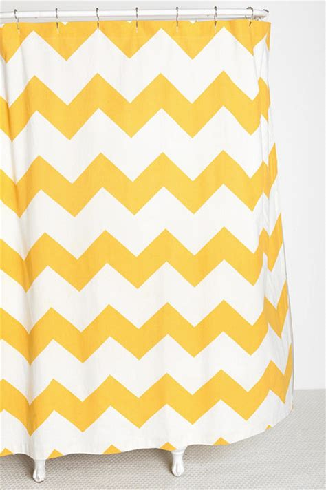 yellow and gray chevron kitchen curtains zigzag shower curtain yellow contemporary shower curtains