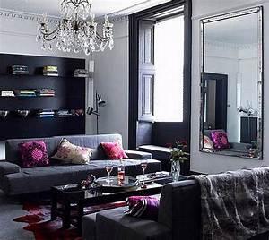 Living, Room, Design, Black, And, Grey, Living, Room