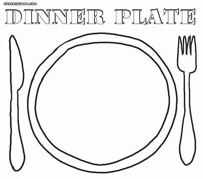 Plate Coloring Pages Dinner Dishes Seder Colouring