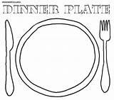 Plate Coloring Seder Dinner Colorings Printable Getcolorings sketch template