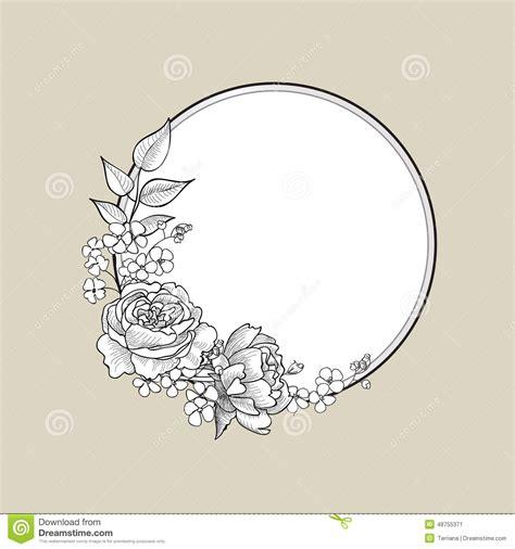 floral frame flower border background stock illustration