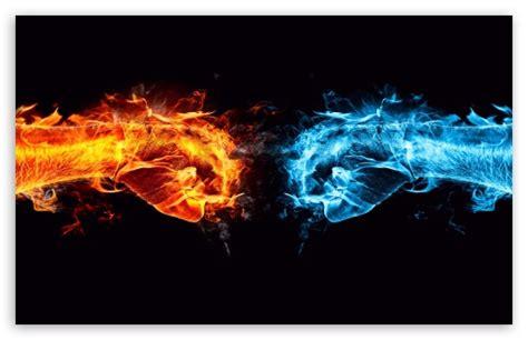 Fire Fist Vs Water Fist 4k Hd Desktop Wallpaper For 4k
