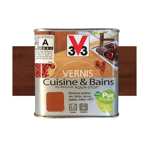 vernis cuisine v33 vernis cuisine et bains teck de java satin pas cher en ligne